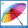 다채로운 Automatic 24ribs Rainbow Golf Umbrella