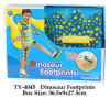 Het grappige Hete Stuk speelgoed van de Voetafdrukken van de Dinosaurus
