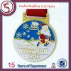 Подгонянное медаль эмали металла марафона идущее с тесемкой
