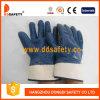 Jersey con el guante azul del nitrilo (DCN511)