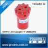 고품질 T38 T45 T51에 의하여 스레드되는 바위 광업 교련 단추 비트