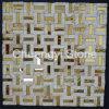 Mosaico mezclado del metal de la casa del surtidor de China del diseño de la pared del mármol decorativo moderno del azulejo