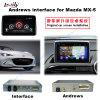 HD車のUpgadeの2014-2016年のマツダMx5のためのが付いている人間の特徴をもつマルチメディアGPSの運行ボックス