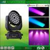 LEIDENE RGBW 36PCS het van uitstekende kwaliteit Bewegende HoofdLicht van het Gezoem