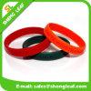 Wristband nero rosso del braccialetto del silicone