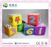 Stuk speelgoed van het Cijfer van de Blokken van de baby Multi-Colored Zachte Peuter Onderwijs