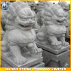 Sculpture en pierre en lions de gardien de modèle chinois