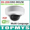 Hikvision無線IR PTZのドームのカメラDs2de2202 De3/W 2MP P2p 2XのズームレンズのMic& Multi-Language Audio3dの情報処理機能をもった位置