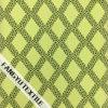 服のための十字の縞デザインレースファブリック