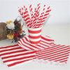 Los artículos decorativos venden al por mayor la paja de papel de consumición determinada del rojo