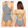 Qualitäts-reizvolle Bikini-gestreifte Dame-Badebekleidungs-einteilige Frauen-Abnützung