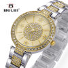 De Dames van Belbi vormen het Eenvoudige Horloge van het Kwarts van de Diamanten van het Horloge Waterdichte