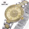 Belbi 숙녀 형식 간단한 시계 다이아몬드는 석영 시계를 방수 처리한다