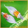 Padrão branco das luzes de bulbo E12 E14 CE&RoHS (XXW-CB-3W)