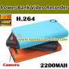1080P Full HD Camera en la batería de Power con H. 264