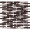 Tegel van het Mozaïek van het Glas van het Aluminium van de boog de Golvende Bruine