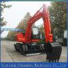 Mini excavador de la rueda hidráulica para la venta con la garantía 12months