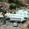 アメリカの国のフランスの田園花の100%年の綿の寝具セット