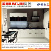 Cozinha moderna Cabinent do lustro elevado preto & branco
