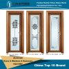 Alluminio cinese/stanza da bagno di alluminio/portello provvisto di cardini con colore del legno di sandalo del Brasile