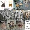 의자를 식사하는 목제 십자가 뒤 의자 x 뒤 의자 거실 연회
