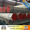 tubo de acero galvanizado sumergido caliente BS1387 del 1/2