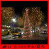 Arbre de Noël en spirale énorme de la lumière de corde du fil DEL de décor d'événement