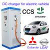 Estação cobrando combinado de 2 veículos eléctricos de Chademo CCS