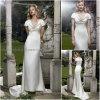 Vestido de casamento curto da luva (SD013)