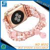 Correa rosada del reloj del grano del Rhinestone para la venda de reloj de Apple