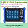 Beroeps 7  Onvif Multifunctionele IP Sdi Tvi Cvi het Meetapparaat van kabeltelevisie van de Camera Ahd met Poe