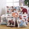 Taie d'oreiller décorative de couverture de coussin de maneton de coton de promotion de caisse carrée de toile de palier pour la tête 18 «X 18 de cerfs communs de sofa