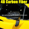4D Glossy Carbon Fiber Black Film для обруча Car