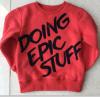 소년의 스웨터 셔츠