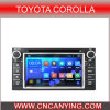 Android puro 4.4 Car GPS Player para Toyota Corolla com o processador central 1g RAM 8g Inland Capatitive Touch Screen de Bluetooth A9 (AD-9158)