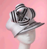 2015 Form Lady White Church Hats für Spring Winter