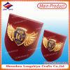 3D Plaque van het Schild van de Toekenning van het Embleem van het Metaal Gouden Houten lzy-P009