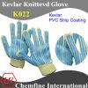 Кевлар трикотажные перчатки с 2-х сторон ПВХ Газа покрытия