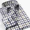 Modelo ocasional de las camisas de la alta calidad del OEM de la tela escocesa del Mens de encargo de la franela