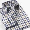 OEMのカスタム高品質の格子縞のフランネルメンズ偶然のワイシャツパターン