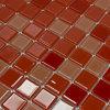 Tegels van het Mozaïek van de Baksteen van het Glas van de Vorm van Miatamia Vierkante Rode voor Badkamers, 25*25mm
