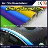 Film brillant noir 1.52*28m de vinyle de diamant de scintillement de film de diamant