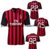 CA libero Milano Home Red e Black Soccer Jersey 2013 di Shipping Best Thai Quality 14 Player 45 pullover di EL Shaarawy del Ka del Ka di Balotelli