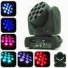 Do feixe Fullcolor claro do diodo emissor de luz 12PCS do disco luz principal movente