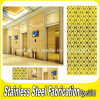 Panneaux de revêtement enduits de mur d'acier inoxydable de couleur moderne intérieure
