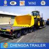 Acoplado pesado del cuello de cisne de Lowbed del excavador de la máquina del transporte para el sector de la construcción