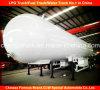 De 3 árboles del LPG del transporte del tanque del acoplado del LPG del tanque acoplado semi