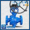 El Rb del acero de molde de Didtek reduce la vávula de bola montada muñón del alesaje con la caja de engranajes