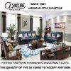 Mobilia americana as-843 dell'hotel del sofà del cuoio della pagina di legno solido di stile