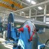 Câmara de ar espiral que dá forma à máquina para o duto de HAVC que faz a produção